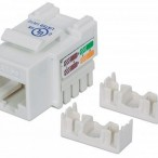 INT Cat 5 Keystone Jack, UTP, White, Punch-down