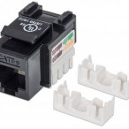 Cat 5 Keystone Jack, UTP, Black, Punch-down
