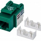 INT Cat6 Keystone Jack, UTP, Green, Punch-down