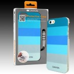 CANYON iPhone5 IML case with stylus and screen protector, Blue, Retail external color: blue