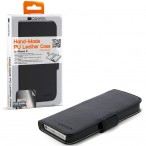 Carefully Hand-Made PU leather case for iPhone 5, wallet Book type (Black), screen protector included