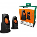 Multimedia - Speaker CANYON CNR-SP20IB (Stereo, 3.6W, 130Hz-16kHz, Black)