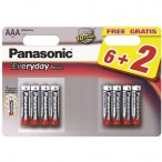 PANASONIC baterije LR03EPS/8BW-AAA 8kom Alkalne Everyday