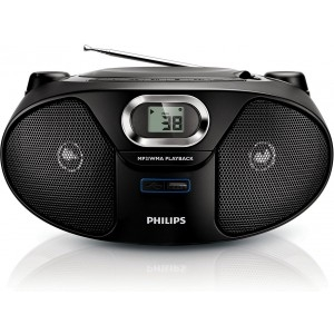 Prenosni CD radio Philips AZ385/12, MP3/WMA,USB,FM tuner,Stereo - CD radio kasetofon