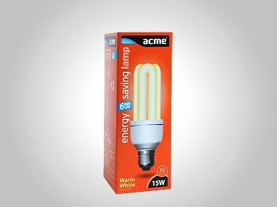 ACME energy saving lamp 3U15W6000h827E27