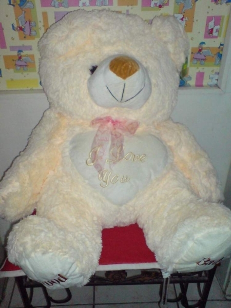 Teddy - sa srecem I LOVE YOU ogroman