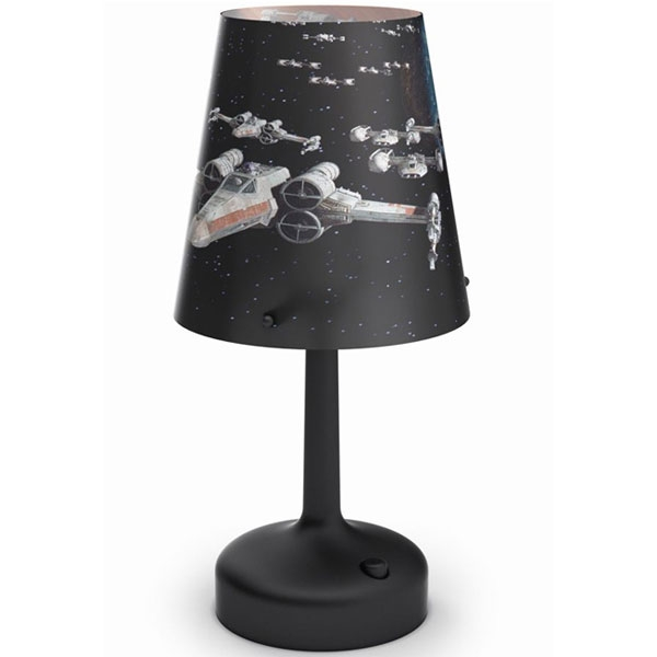 table lamp-Spaceships-Black - Stone lampe