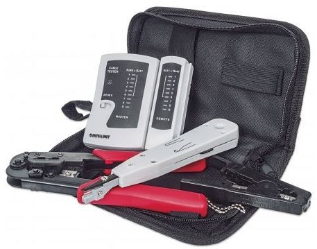 LAN Network Kit, LAN Tester/LSA punch down tool/Crimping Tool...