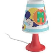 Mickey Mouse table lamp black 1x2.3W SEL - Ukrasne Lampe
