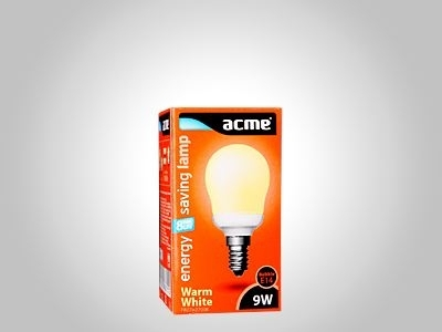 ACME energy saving lamp G45 9W8000h827E14