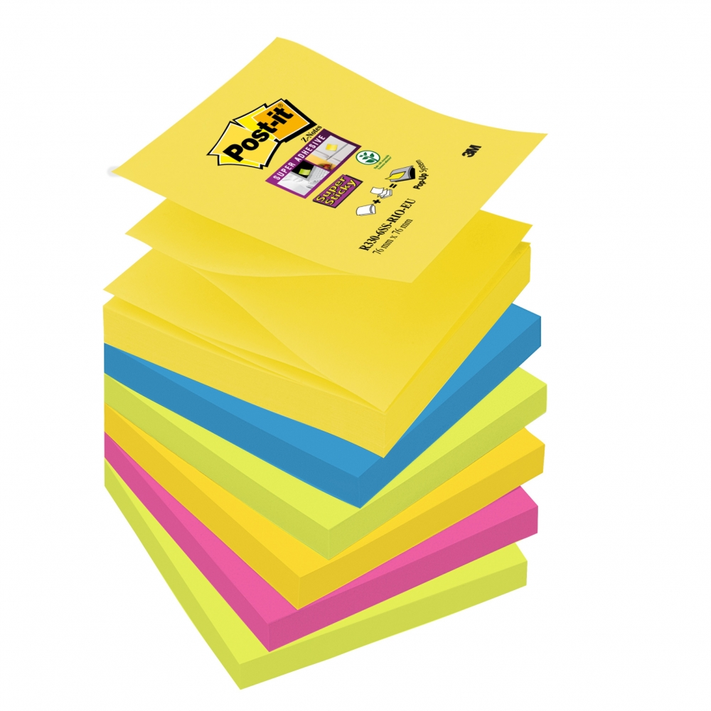 Post-it refil Z-Note RIO, 76x76mm, 90 listova, 6-pack - Postolja