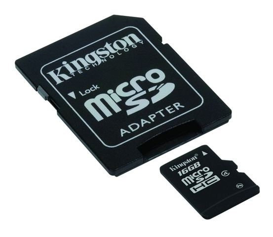MICRO SD 16GB KINGSTON + SD adapter SDC4/16GB - Micro SD