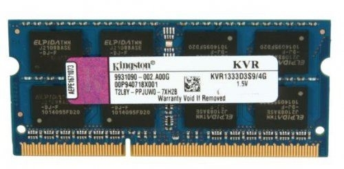 SO-DIMM DDR3 4GB 1333MHz KINGSTON KVR1333D3S9/4G