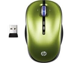 NOT DOD HP Mouse Leaf Green Wireless Opt , XP359AA