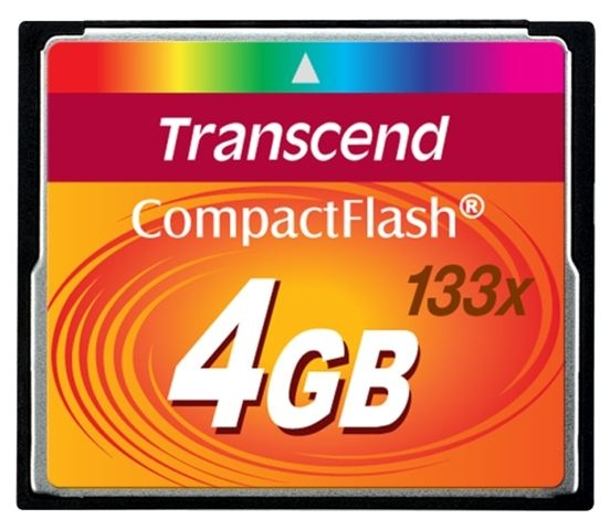 COMPACT FLASH CARD 4GB TRANSCEND TS4GCF133 - Compact Flash Card
