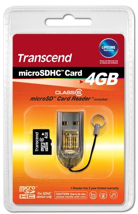 Micro SD 4GB Class 6 i SD Adapter - Micro SD