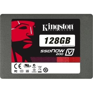 ''SSD SATA3 128GB Kingston SV200S37A/128G, 300/190MBs