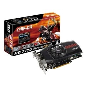 'VGA AMD Radeon 7770 ASUS DC 1GB/DDR5/DVI/HDMI/DP/128bit/HD7770-DC-1GD5-V2