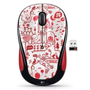 Miš USB Logitech M325, Cordless Red Smile