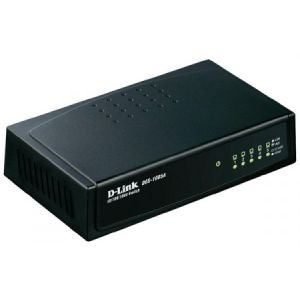 Lan Switch D-Link, DGS-1005A, 5x10/100/1000 Mbps/desktop