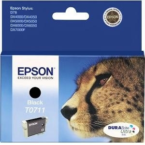 Cartridge Epson T0711 black, D92/D120/DX4450/DX7450/DX8450/SX105/SX205/SX405