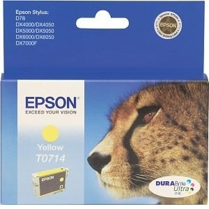 Cartridge Epson T0714 yellow, D92/D120/DX4450/DX7450/DX8450/SX105/SX205