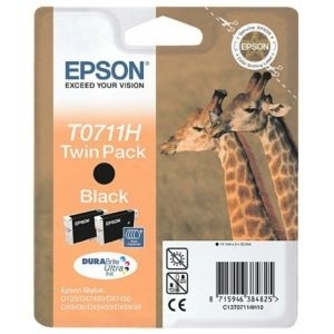 Cartridge Epson T0711H10 Twin pack black