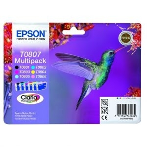 Cartridge Epson T0807 Multipack, P50/PX650/PX700W/PX800FW/R265/R285/R360/RX560