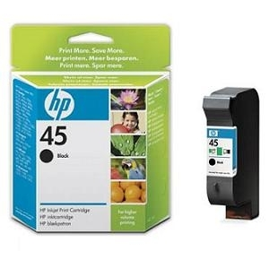 Cartridge HP No.45 51645AE black, 42ml 7xx/8xx/11xx/930/950/970/1150/1600/1100