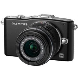 ''Digitalni foto-aparat Olympus E-PM1 black  + EZ-M1442 II R black Kit