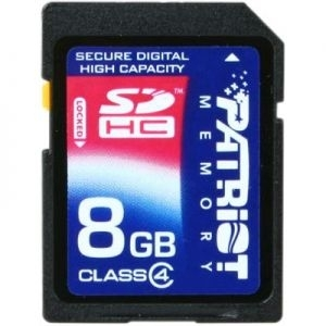 Memorija SD 8GB Patriot Class 4 ,/SDHC/Signature/PSF8GSDHC4