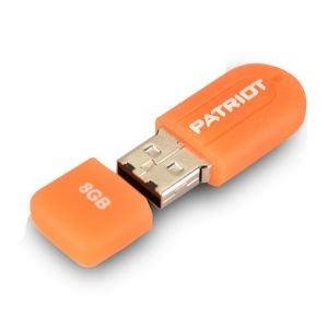 'USB Flash Disk 8GB Patriot Xporter Mini Orange Gumiran i vodootporan,/PSF8GMUSB