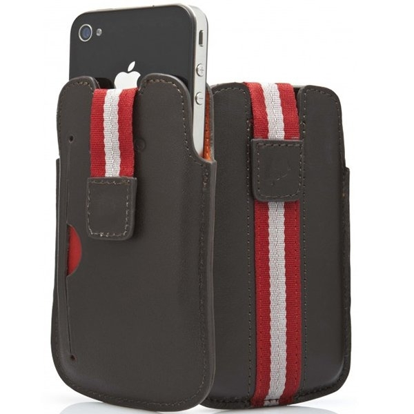 CYGNETT Boston case with starp for iPhone 4 & iPhone 4S, Brown, Retail for iPhone 4, Brown, Retail
