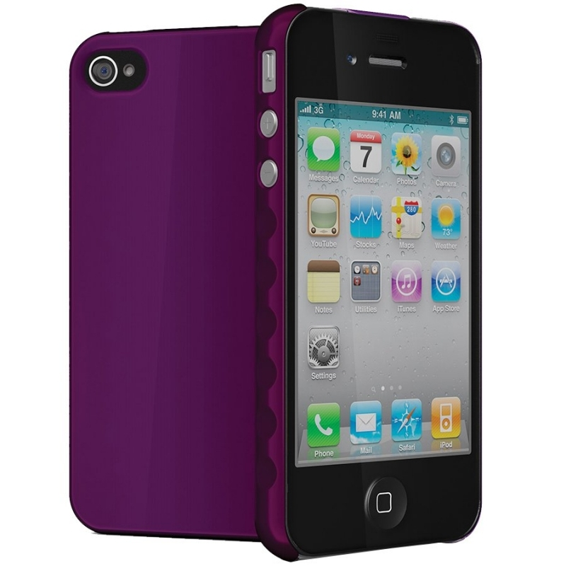 CYGNETT AeroGrip Hard-wearing protection for iPhone 4 & iPhone 4S, Purple, Retail for iPhone 4, Purple, Retail