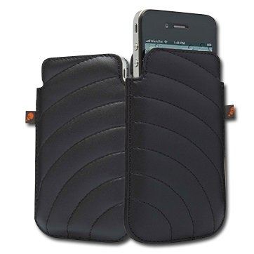 CYGNETT Manhattan Padded pouch for iPhone 4 & iPhone 4S, Black, Retail for iPhone 4, Black, Retail