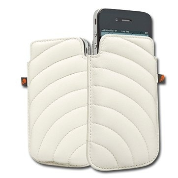 CYGNETT Manhattan Padded leather pouch for iPhone 4 & iPhone 4S, White, Retail for iPhone 4, White, Retail