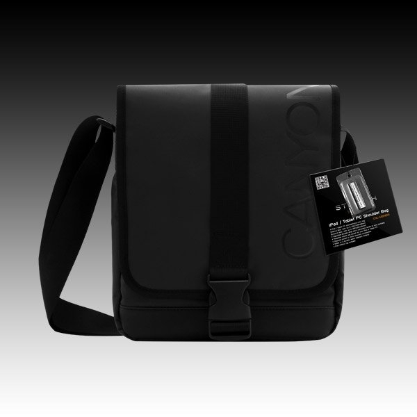 CANYON Shoulder bag for iPad/TabletPC, Black
