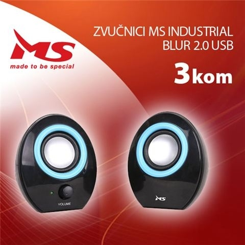 Zvučnici MS Industrial  Twins 2.0 USB  3kom