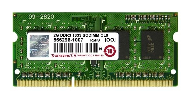 Memorija Transcend SO-DIMM DDR3 2GB 1333MHz