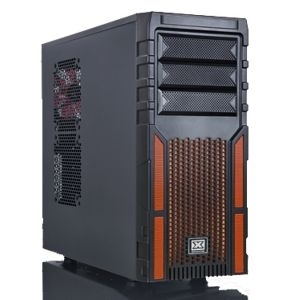 Kuciste Xigmatek Asgard 381, black-orange/12cmFan/USB3/cable managmen/8 fan.max.