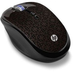 HP Mobile Mouse (WX407AA) 2.4GHz Wireless Optical (Black Cherry)