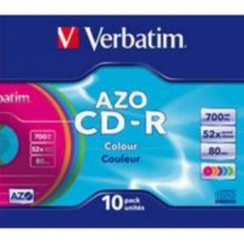 Verbatim 43308 CD-R 700MB 52x Colour DataLife Plus AZO 10/1