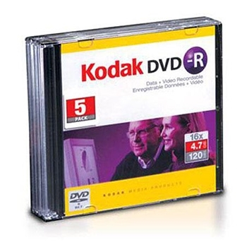 Kodak DVD-R Single Slim Case 5 kom u kutiji