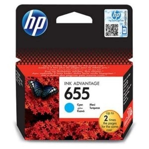 Cartridge HP No.655 CZ110AE cyan, Ink Advantage 3525/4615/4625/5525/6525 600str.