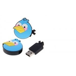 USB Flash Disk 4GB Angry Birds, USB2.0/blue