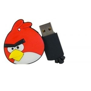 USB Flash Disk 4GB Angry Birds, USB2.0/red