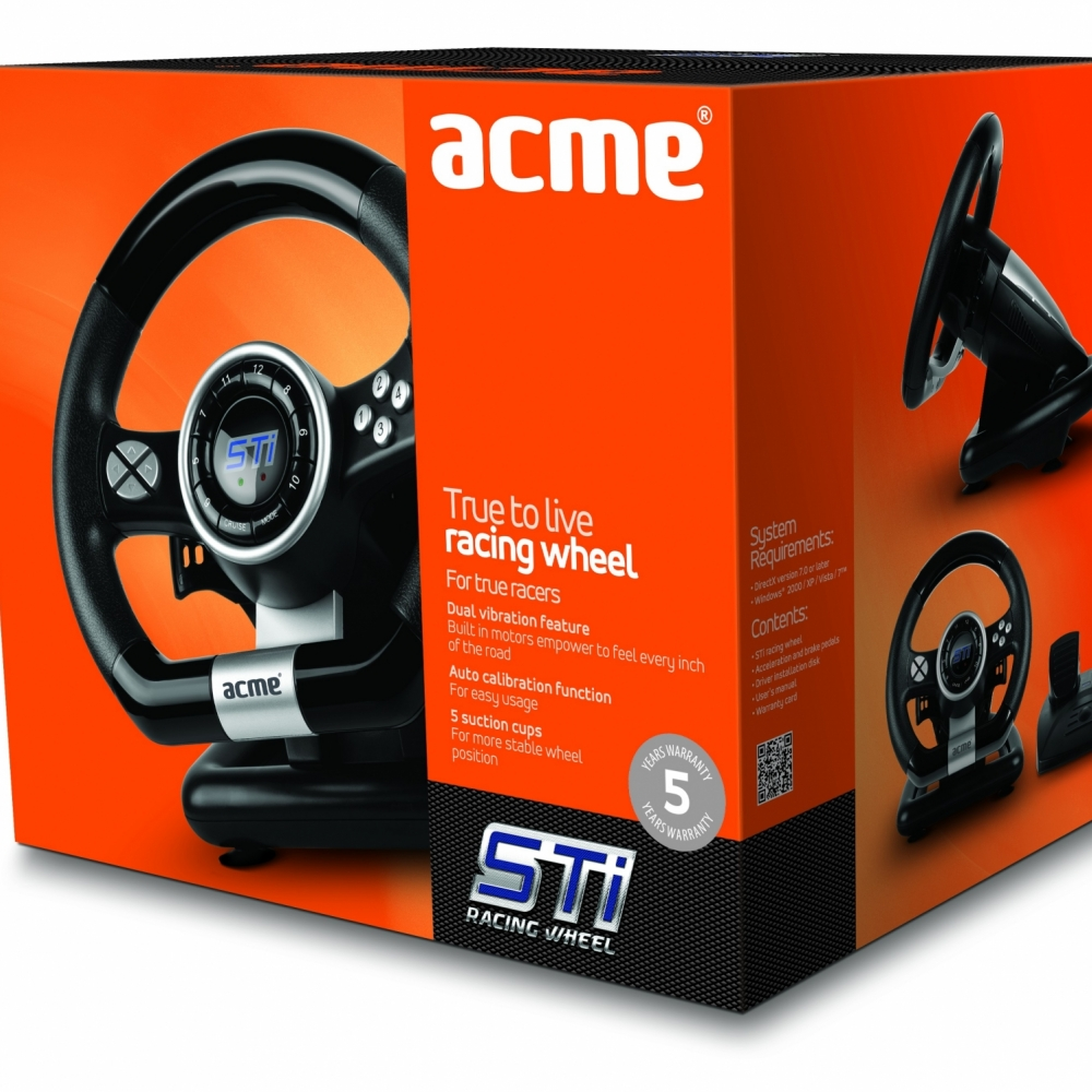 Acme STi Racing Wheel - Volani za igranje