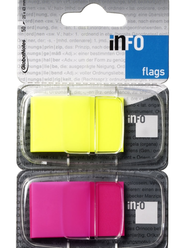Page marker INFO FLAGS 2x25x43 mm, 2x50l - Page marker