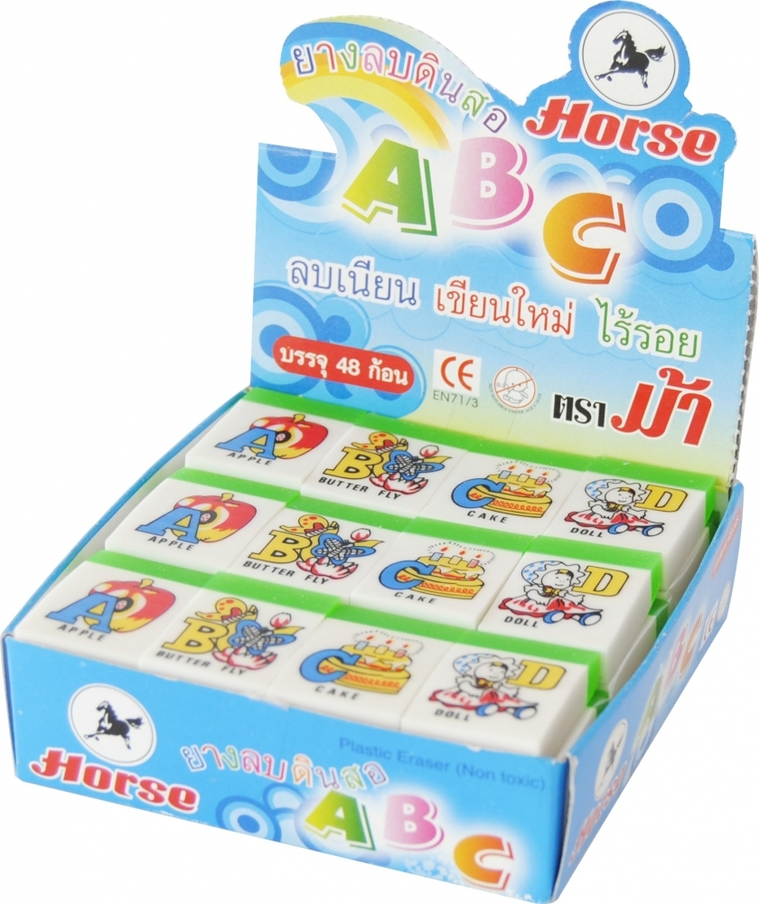 Gumica Horse ABC english, box 1/48 - Gumice za brisanje
