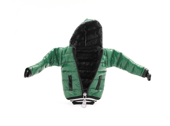 Torbica Jacket small zelena - Stilizovane futrole